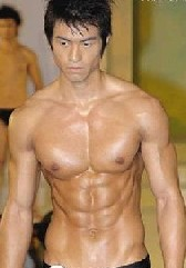 Asian male abs muscles img